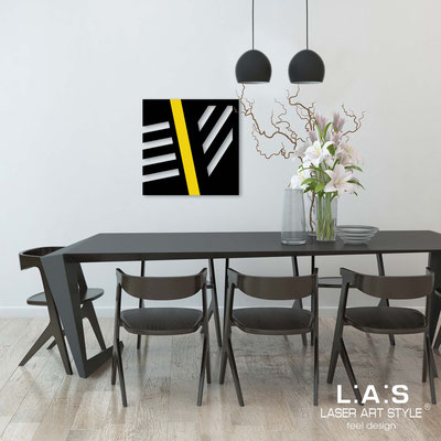 Abstract wall sculptures </br> Code: SI-346 | Size: 60x60 cm </br> Colour: black-yellow