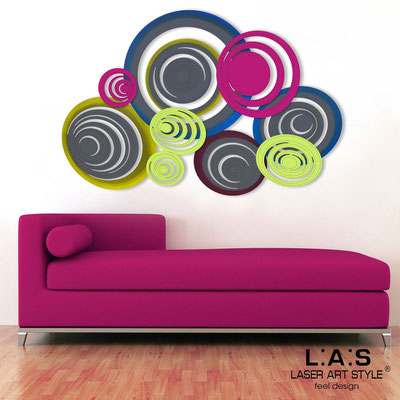 Abstract wall sculptures </br> Code: SI-183 | Size: 150x100 cm </br> Colour: charcoal grey-crimson-lime-multicoloured decoration-matched engraving