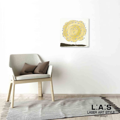 Quarantotto </br>  Code: Q-003 | Size: 48x48 cm </br> Colour: mustard decoration-wood engraving