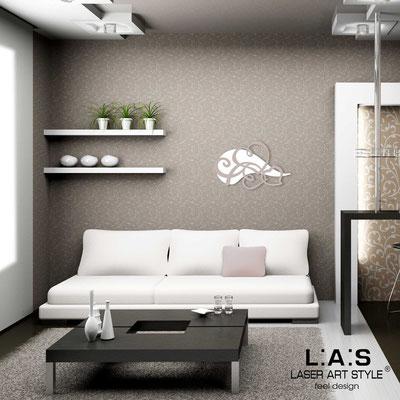 Figurative wall sculpture </br> Code: SI-243L | Size: 66x42 cm </br> Code: SI-243XL | Size: 93x60 cm </br> Colour: white-powder