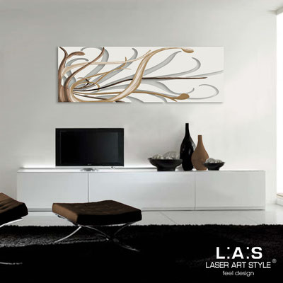 Abstract wall sculptures </br> Code: SI-113 | Size: 150x50 cm </br> Colour: cream-brown decoration-matched engraving