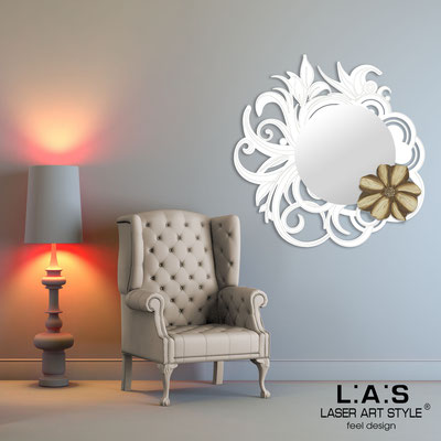 Mirrors </br> Code: SI-298 | Size: 95x95 cm </br>  Colour: white-dove grey decoration-matched engraving