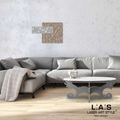 Abstract wall sculptures </br> Code: SI-351 | Size: 75x50 cm </br> Colour: light stone decoration-concrete grey-wood engraving