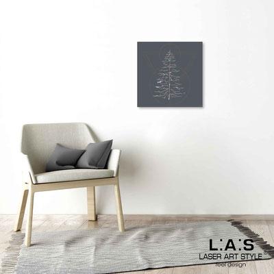 Quarantotto </br>  Codice: Q-010 | Misura: 48x48 cm </br> Colore: antracite-incisione legno