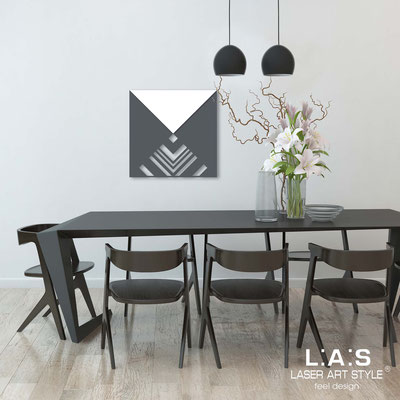 Abstract wall sculptures </br> Code: SI-341 | Size: 60x60 cm </br> Colour: charcoal grey-white