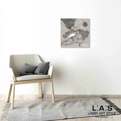 Quarantotto </br>  Codice: Q-030 | Misura: 48x48 cm </br> Colore: decoro nero-incisione legno