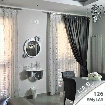 A casa di Margherita | Italia </br> Codice Specchiera: SI-320 | Misura: 60x70 cm </br> Colore: bianco - argento </br> Codice Consolle: SI-278 | Misura: 60x30 cm </br> Colore: bianco - argento