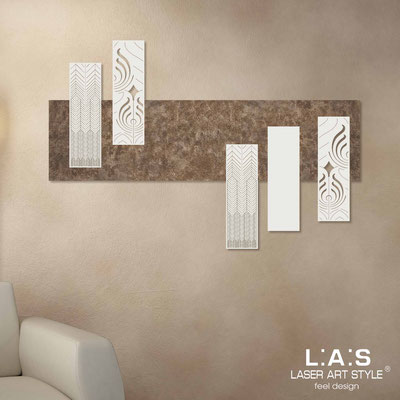 Abstract wall sculptures </br> Code: SI-353 | Size: 150x100 cm </br> Colour: lava decoration-cream-wood engraving