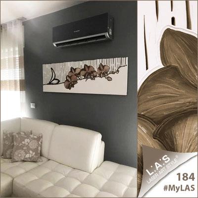 A casa di Teresa   Italia </br> Codice: SI-087-B   Misura: 148x50 cm </br> Colore: bianco-decoro tortora
