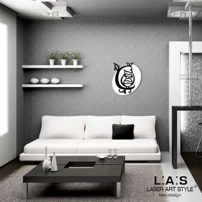 Figurative wall sculpture </br> Code: SI-240L | Size: 60x67 cm </br> Code: SI-240XL | Size: 81x93 cm </br> Colour: white-black