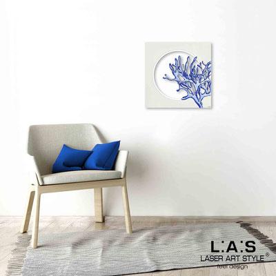 Quarantotto </br>  Codice: Q-031 | Misura: 48x48 cm </br> Colore: decoro bluette-incisione legno