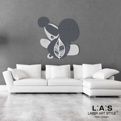 Floral wall sculpture </br> Code: SI-271 | Size: 87x90 cm </br> Colour: light grey-charcoal grey-white