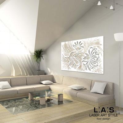 Quadri Floreali </br>  Codice: SI-137   Misura: 150x100 cm </br>  Codice: SI-137M   Misura: 100x67 cm </br>  Colore: bianco-decoro stucco dorato