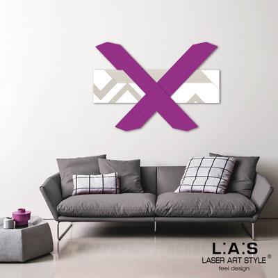Quadri Astratti </br> Codice: SI-309 | Misura: 115x80 cm </br> Colore: bianco-violetto-incisione legno
