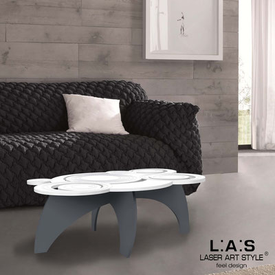Furnishings </br> Code: SI-283   Size: 100x60 h40 cm </br> Colour: white-charcoal grey-matched engraving