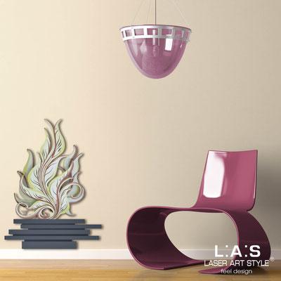 Quadri Floreali </br>  Codice: SI-191-G | Misura: 63x86 cm </br>  Colore: antracite-decoro toni caldi-incisione legno