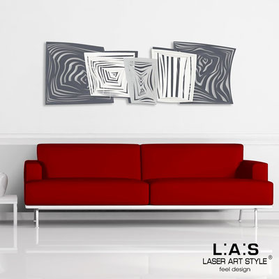 Abstract wall sculptures </br> Code: SI-147 | Size: 180x60 cm </br> Colour: charcoal grey-white-silver-invariable engraving
