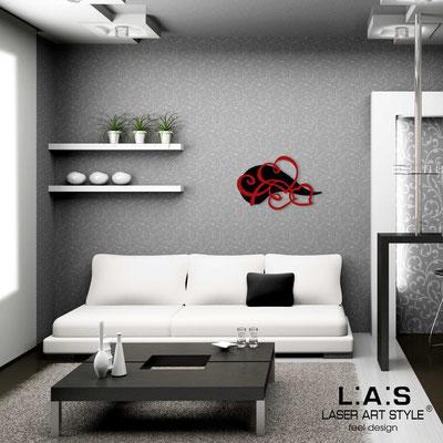 Figurative wall sculpture </br> Code: SI-243L | Size: 66x42 cm </br> Code: SI-243XL | Size: 93x60 cm </br> Colour: black-red