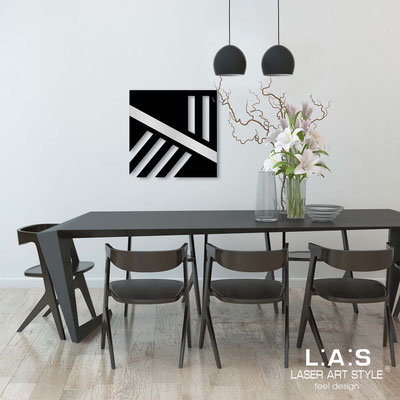 Abstract wall sculptures </br> Code: SI-344 | Size: 60x60 cm </br> Colour: black-silver