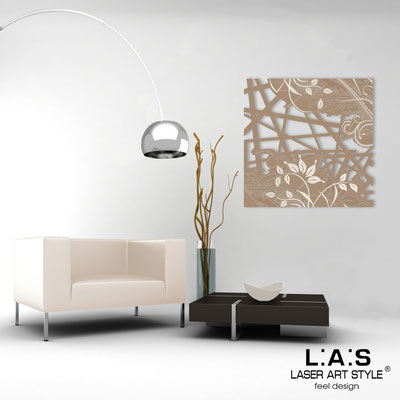 Abstract wall sculptures </br> Code: SI-110Q | Size: 90x90 cm </br> Colour: hazel-cream engraving