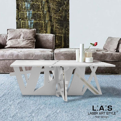 Furnishings </br> Code: SI-295   Size: 100x60 h40 cm </br> Colour: white-inox steel-matched engraving