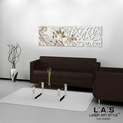 Quadri Astratti </br> Codice: SI-110-B | Misura: 148x50 cm </br> Colore: panna-incisione legno