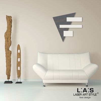 Abstract wall sculptures </br> Code: SI-188 | Size: 65x65 cm </br> Colour: charcoal grey-cream-wood engraving
