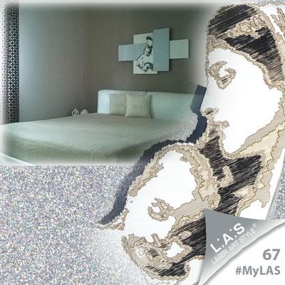 Grazie ad Alessia per aver condiviso con noi la foto della sua camera, diventando protagonista #MyLAS! La scultura da parete scelta come capezzale è la dolce maternità #laserartstyle: perfetta in questo arredamento, vero? http://bit.ly/W9Myfe