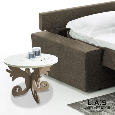 Furnishings </br> Code: SI-288   Size: 60x60 h40 cm </br> Colour: cream-hazel