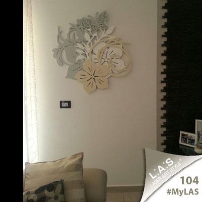 A casa di Rocco e Anna Pia <br> Abitazione privata   Italia </br> Codice: SI-200L   Misura: 165x73 cm </br> Colore: grigio verde-bianco-cammello
