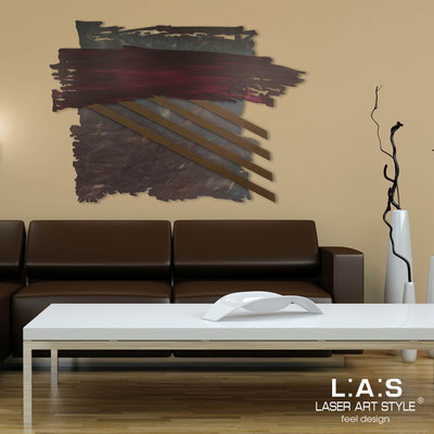 Abstract wall sculptures </br> Code: SI-255 | Size: 140x100 cm </br> Colour: marsala decoration-bronze