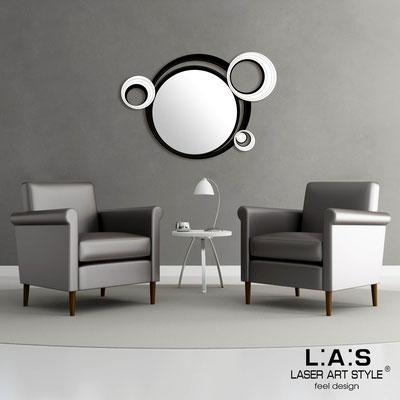 Specchiere </br> Codice: SI-296 | Misura: 100x70 cm </br>  Colore: nero-bianco-incisione tono su tono