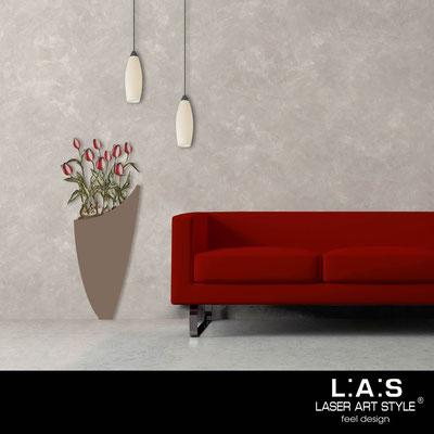 Quadri Floreali </br>  Codice: SI-193-F | Misura: 55x125 cm </br>  Colore: grigio marrone-decoro rosso-incisione legno