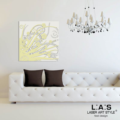 Abstract wall sculptures </br> Code: SI-107Q | Size: 90x90 cm </br> Colour: cream-sand