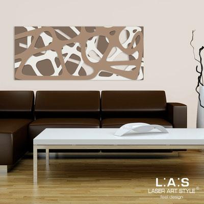 Quadri Astratti </br> Codice: SI-159 | Misura: 140x58 cm </br> Colore: grigio marrone-panna-nocciola
