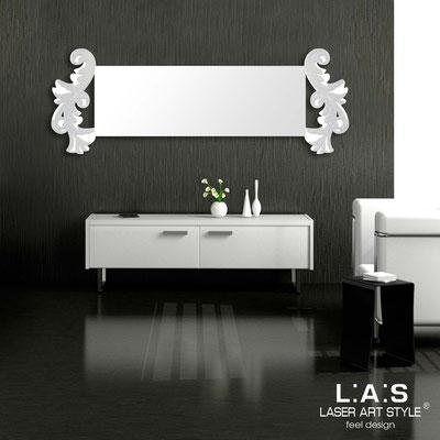 Specchiere </br> Codice: SI-249-SP | Misura: 170x60 cm </br>  Colore: bianco-argento