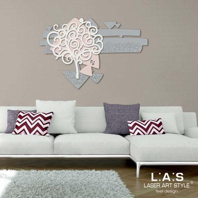 Quadri Floreali </br>  Codice: SI-355   Misura: 150x100  cm </br>  Colore: cemento-rosa bon bon-panna