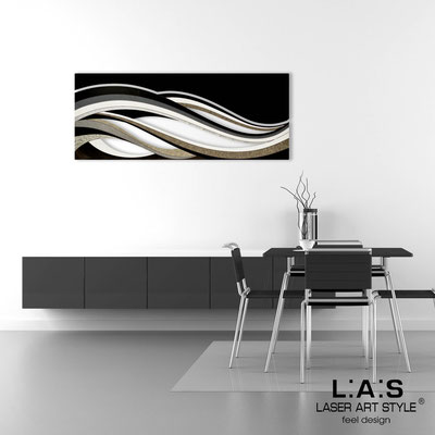 Abstract wall sculptures </br> Code: SI-114B | Size: 2pz 150x60 cm/cad </br> Colour: black decoration-black-wood engraving