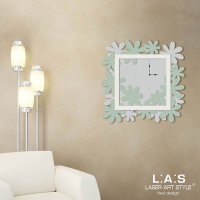Wall clocks </br> Code: SI-207 | Size: 70x70 cm </br> Colour: light grey-grey green-cream