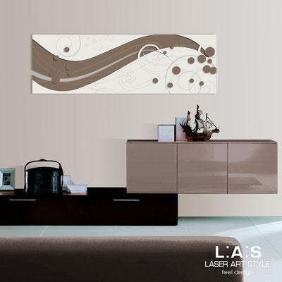 Quadri Astratti </br> Codice: SI-108-B | Misura: 180x58 cm </br> Colore: grigio marrone-panna-incisione legno