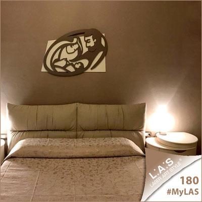 A casa di Irma e Daniele | Italia </br> Codice: SI-325XL | Misura: 90x70 cm </br> Colore: panna-grigio marrone