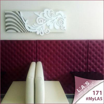 Cocktail Bar | Italia </br> Codice: SI-134 | Misura: 150x60 cm <br> Colore: panna-bianco-incisione legno