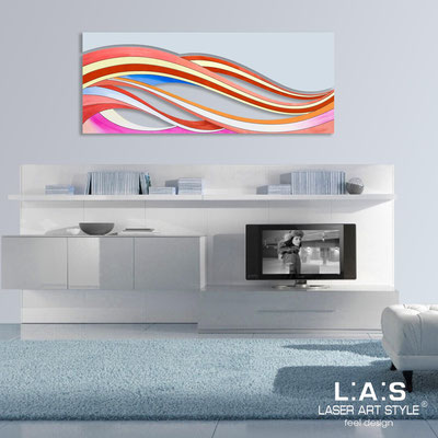 Abstract wall sculptures </br> Code: SI-114B | Size: 2pz 150x60 cm/cad </br> Colour: multicoloured decoration-grey light blue-wood engraving