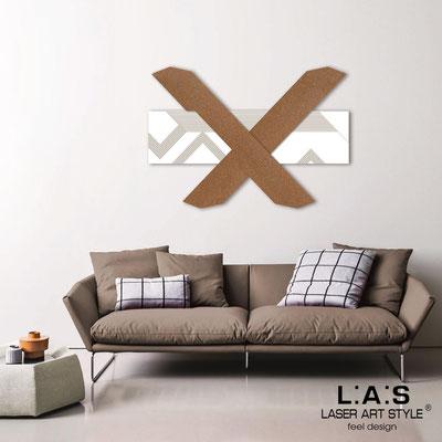 Quadri Astratti </br> Codice: SI-309 | Misura: 115x80 cm </br> Colore: bianco-bronzo-incisione legno