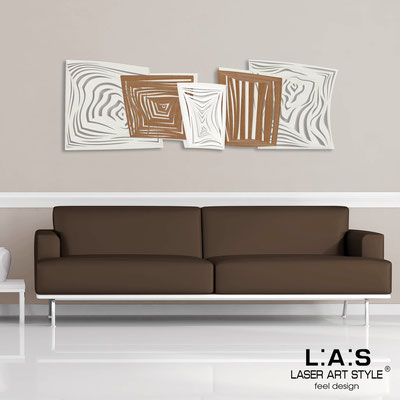 Abstract wall sculptures </br> Code: SI-147 | Size: 180x60 cm </br> Colour: cream-bronze-white-invariable engraving