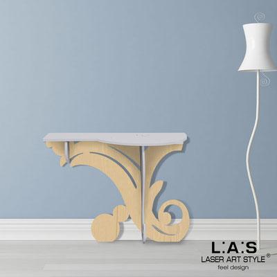 Complementi d'arredo </br> Codice: MW-286 | Misura: 120x40 h80 cm </br> Colore: grigio luce-natural wood