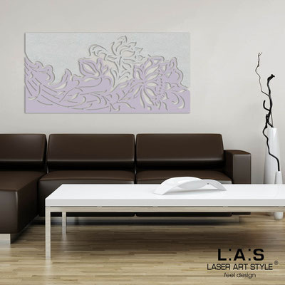 Floral wall sculpture </br> Code: SI-163-SS | Size: 180x90 cm </br> Colour: silver-wistaria