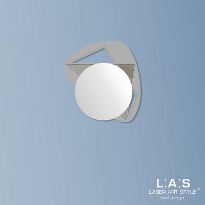 Mirrors </br> Code: SI-375 | Size: 67x60 cm </br>  Colour: concrete grey-wood engraving