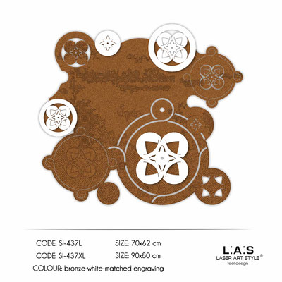 News </br>  Code: SI-437L | Size: 70x62 cm </br>  Code: SI-437XL | Size: 90x80 cm </br> Colour: copper-white-matched engraving