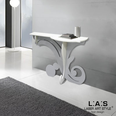 Furnishings </br> Code: SI-286   Size: 120x40 h80 cm </br> Colour: white-silver